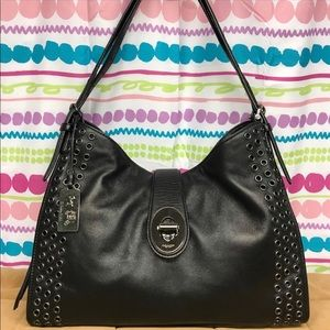 Coach Madison Grommets Carlyl Shoulder Bag